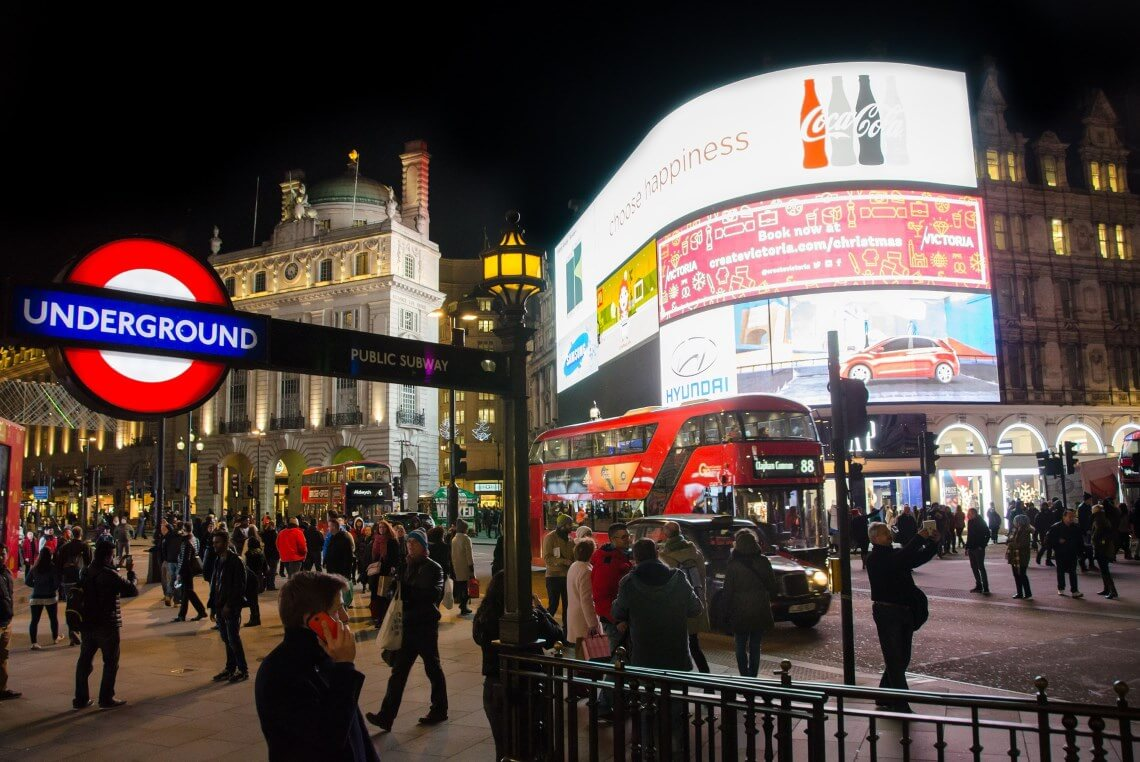 Place Piccadilly Circus à Londres