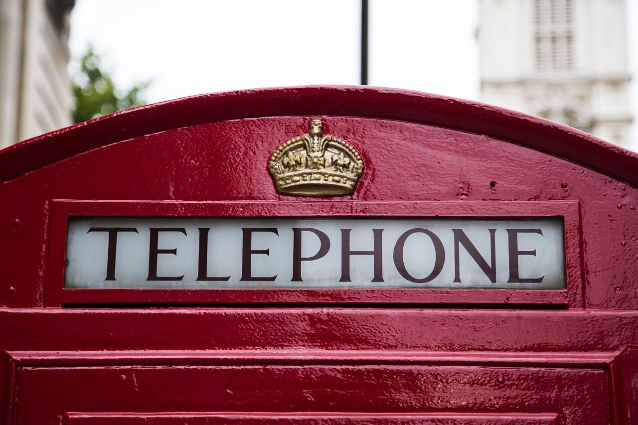 Les cabines téléphoniques rouges