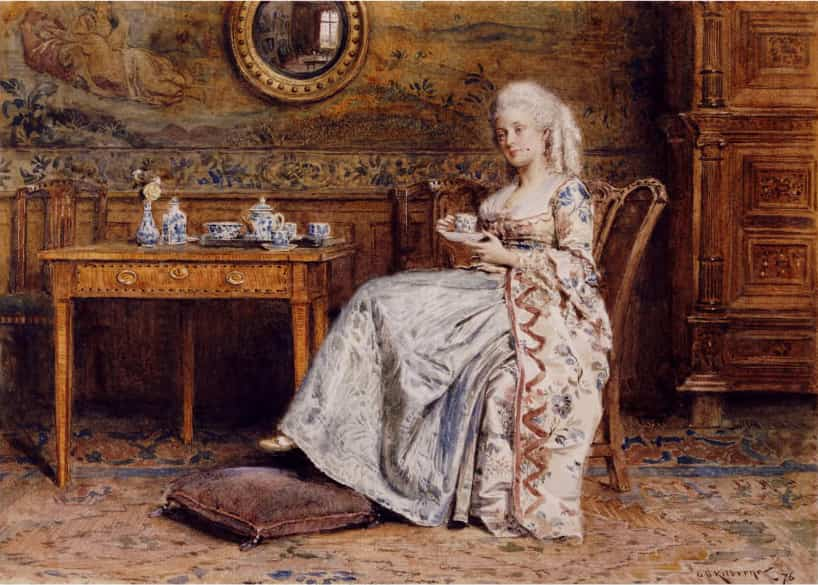 Duchesse Anna de Bedford prenant un Afternoon Tea