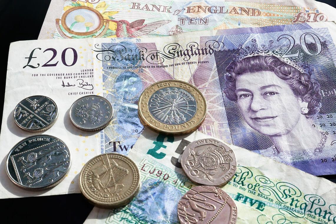 Billets et pièces livre sterling